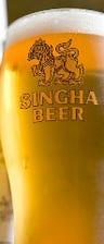 タイ産シンハービール 5.0%(樽生)関西初。