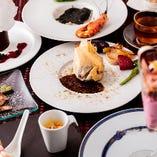 五感全部で楽しめる素材にこだわった驚きの料理をお楽しみ下さい