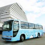 ホテルと三宮を繋ぐシャトルバス(無料)も運行しております。