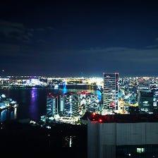 200mからの夜景を見つつ和食を堪能