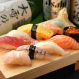 職人が握る本格寿司。一貫80円〜。リーズナブルな本格握り寿司★