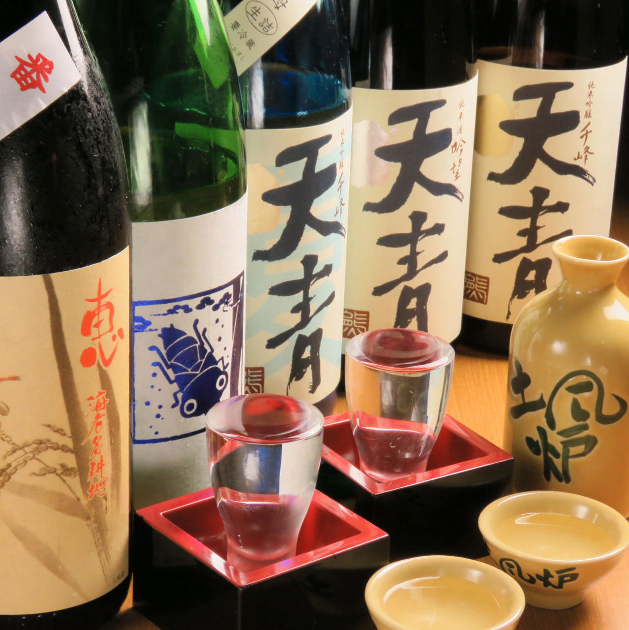 日本全国から地酒をご用意してます