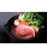 お一人様用の鉄鍋で味加減もお好みで宮崎牛すき焼きは絶品です。