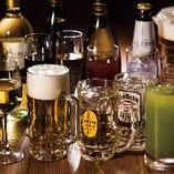 飲み放題は35種類以上のドリンクからお選びいただけます
