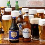 ベルギー、ドイツ、オランダなど世界各国のビールがもりだくさん