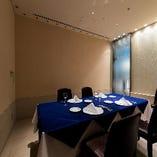個室を完備!!接待や会食、記念日などプライベート空間も