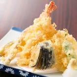 旬野菜と海老の天ぷら