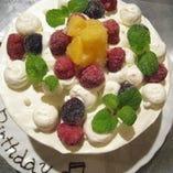 お誕生や記念日に★蘭王たまごで作ったスポンジケーキは色も味も濃厚。女将の心を込めた手作り