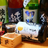 自慢の卵料理や地鶏料理と合わせて、本当に美味しい全国各地の日本酒とのマリアージュをご堪能ください。