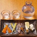 日本酒に合うチーズの盛り合わせ