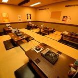大宴会用の個室。最大50名様(40名様以上は貸し切り応相談)