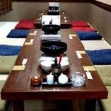 中宴会用の個室。8名様~16名様