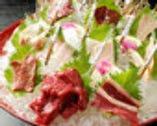 全ての部位を堪能できる大人気の桜八品盛り2人前より3800円