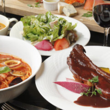 選べる絶品肉料理と贅沢パスタ!乾杯ドリンク付き『ゴージャスコース』全6品