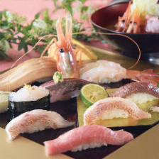 寿司で地魚を満喫