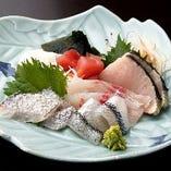 【地魚を中心としたお刺身5点盛り】