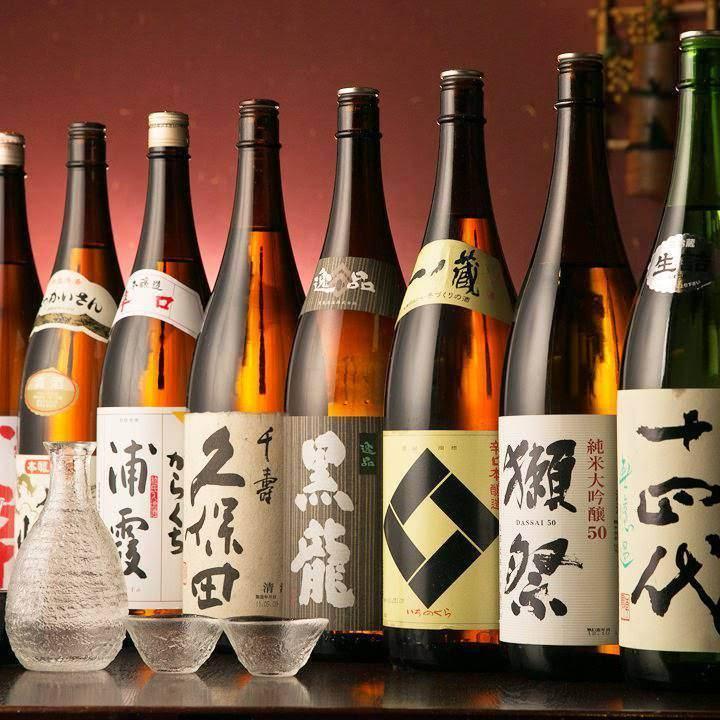 和食と相性抜群の厳選日本酒取り揃え