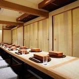 大型のご宴会利用に最適な個室席完備