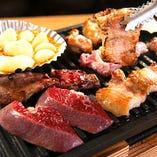 【厳選食材】各部位・旬の食材をテーブル上で焼き上げます!