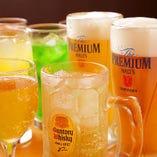 飲み放題付コースなら、生ビールやハイボールも好きなだけ楽しめます♪