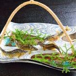 「和ごころ 泉」の代表料理「鮎の塩焼き」