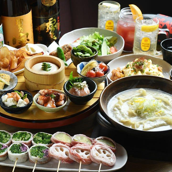 旬食材を盛り込んだ九州名物コース!