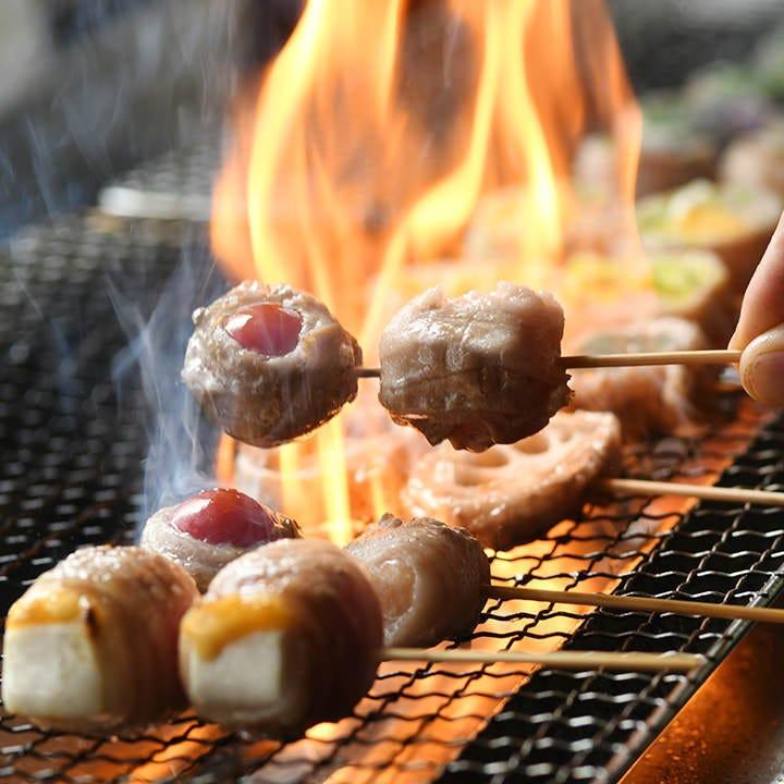 鹿児島の天恵美豚&野菜が主役の博多名物串焼「ベジとんぐるぐる」