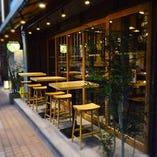 東岡崎駅すぐ!ふらっと寄り道したくなる雰囲気のテラス席です
