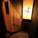 階段で地下へと