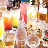 飲み放題の種類は100種類以上♪+500円でプレミアム飲み放題へ