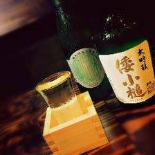 焼酎や日本酒などお酒の種類も豊富
