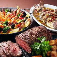 多彩な料理をブッフェスタイルで