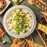 九州の食材・料理にひと手間加えた創作和食の数々。