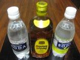 サントリー角ボトル炭酸又はレモンソーダ2本付き