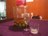 当店自慢の自家製梅酒
