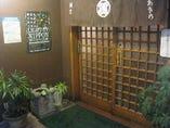 石造りの玄関