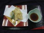 ミニ懐石コースの天ぷら