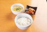 ごはん・スープ・キムチセット