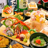 産直鮮魚をご堪能頂ける飲み放題付コースは3500円~◎