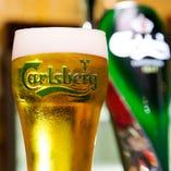生ビールはカールスバーグ!