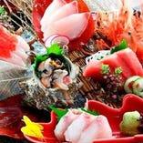 【海の幸】 三陸や豊洲など全国各地から直送される厳選旬魚