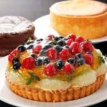 ホールケーキや特製フルーツタルト