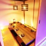 完全個室空間は2名様〜団体様までご案内可能です!