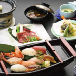 上にぎり寿司御膳 なごみ【黒毛和牛上ロース陶板焼き】