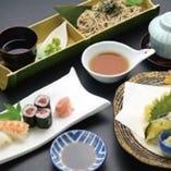寿司と天そばセット