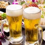 鶏のお供はやっぱりビール!100種飲み放題はカクテルも豊富◎