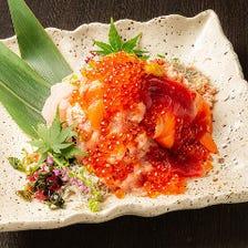 こぼれるインパクト!海鮮こぼれ寿司