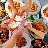 宴会を盛り上げる一品料理はどれも見逃せないものばかり!