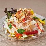 海老と蓮の茎のチャイニーズ風 春雨サラダ