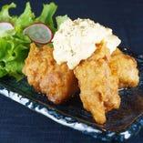 宮崎名物鶏南蛮。ふく竹特製のタルタルソースが絶妙。